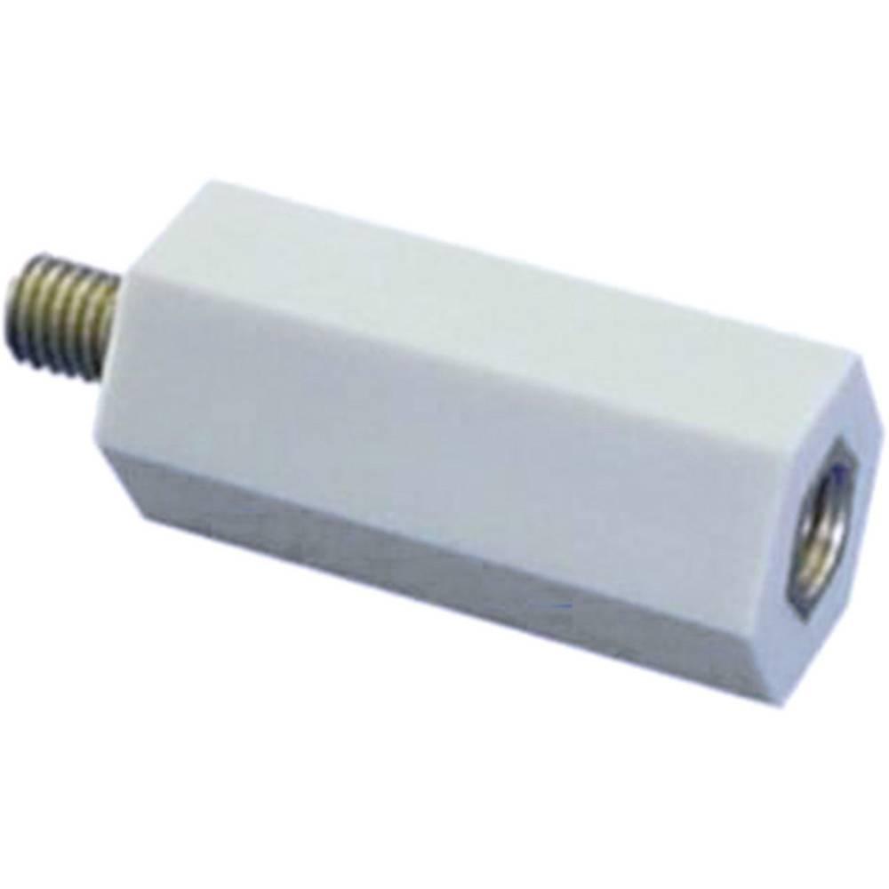 Isolerende distancebolt (L) 15 mm M6x7 mm Polyester, Stål verzinkt 6S15 1 stk