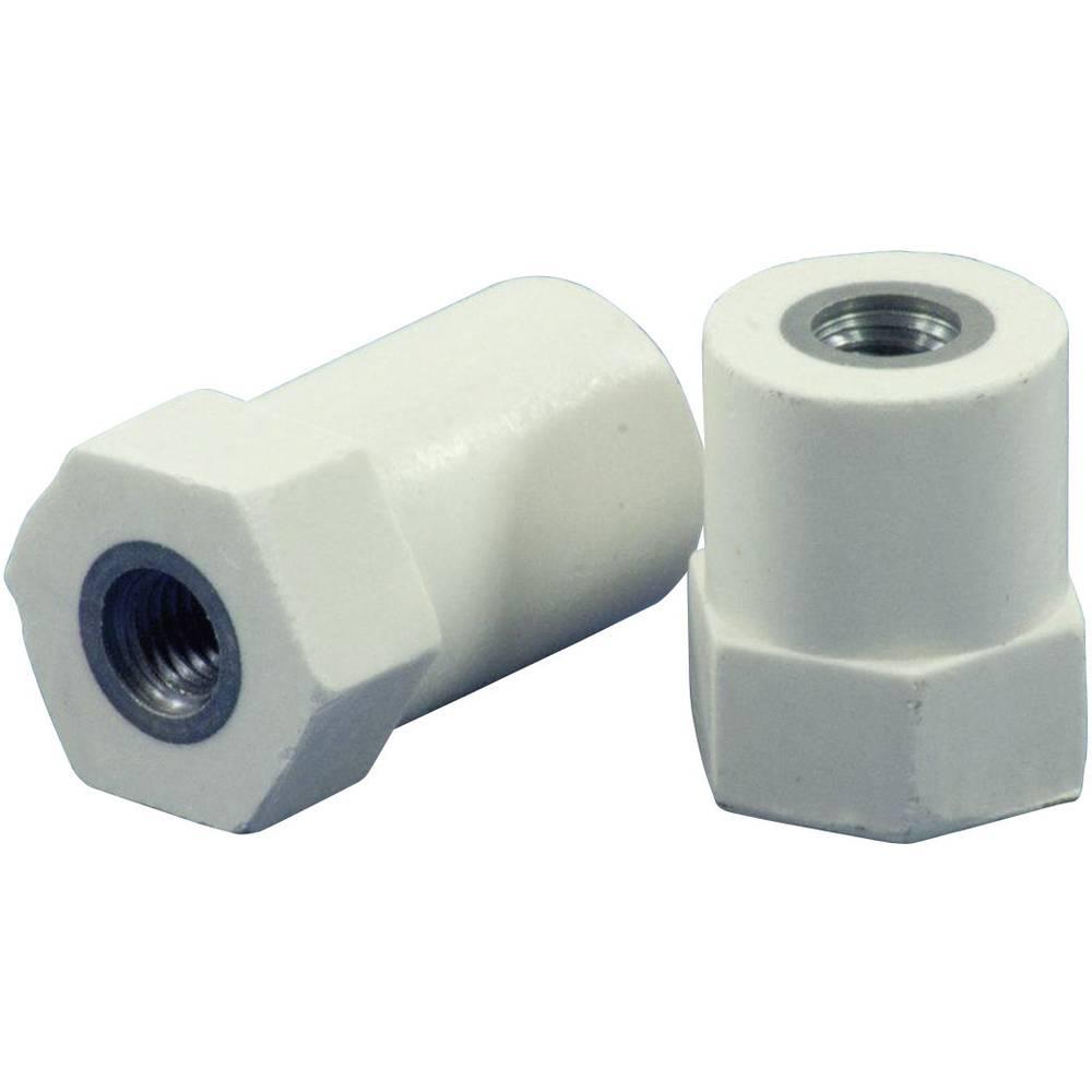 Isoleringsstøtte hexa (Ø x H) 21 mm x 26 mm M8x8 mm Polyester, Stål Glasfiberforstærket, verzinkt HC21.26-HF8.08CF8.08 1 stk