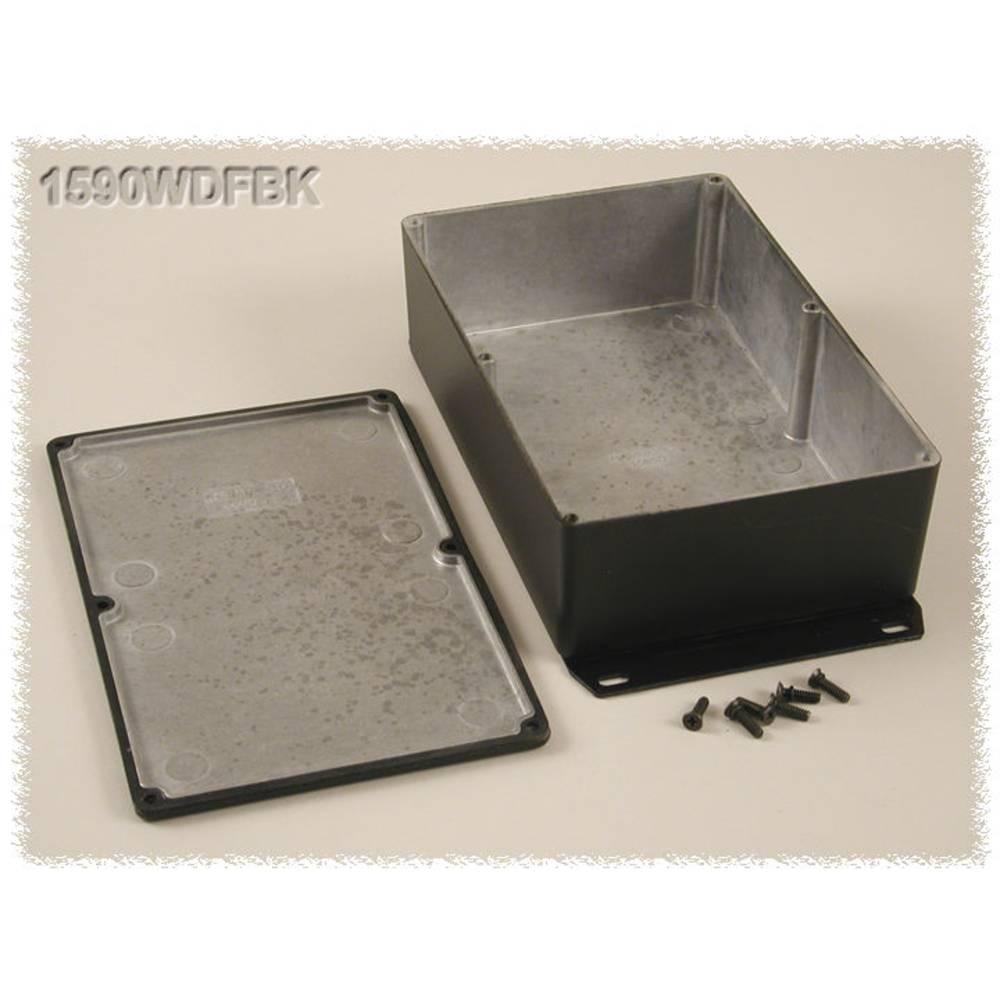 Universalkabinet 187.5 x 119.5 x 56 Aluminium Sort Hammond Electronics 1590WDFBK 1 stk