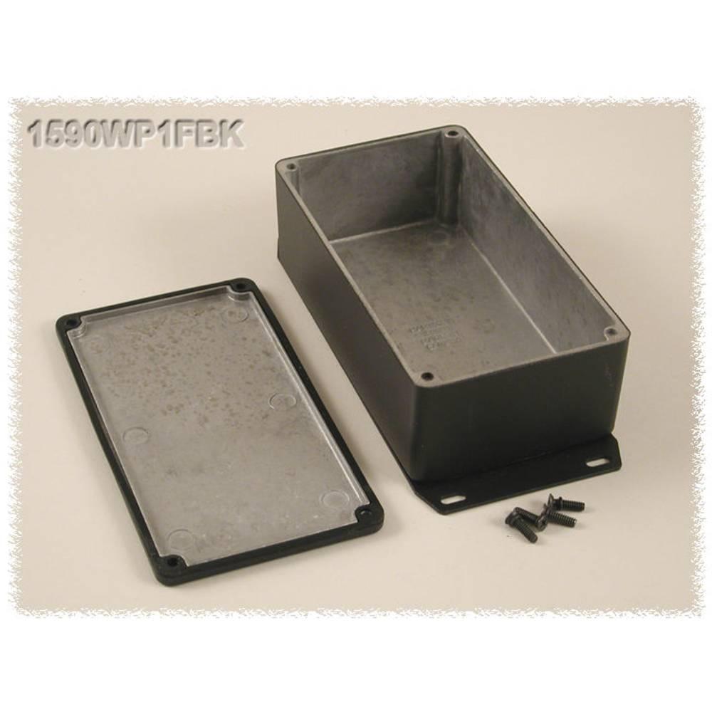 Universalkabinet 153 x 82 x 50 Aluminium Sort Hammond Electronics 1590WP1FBK 1 stk
