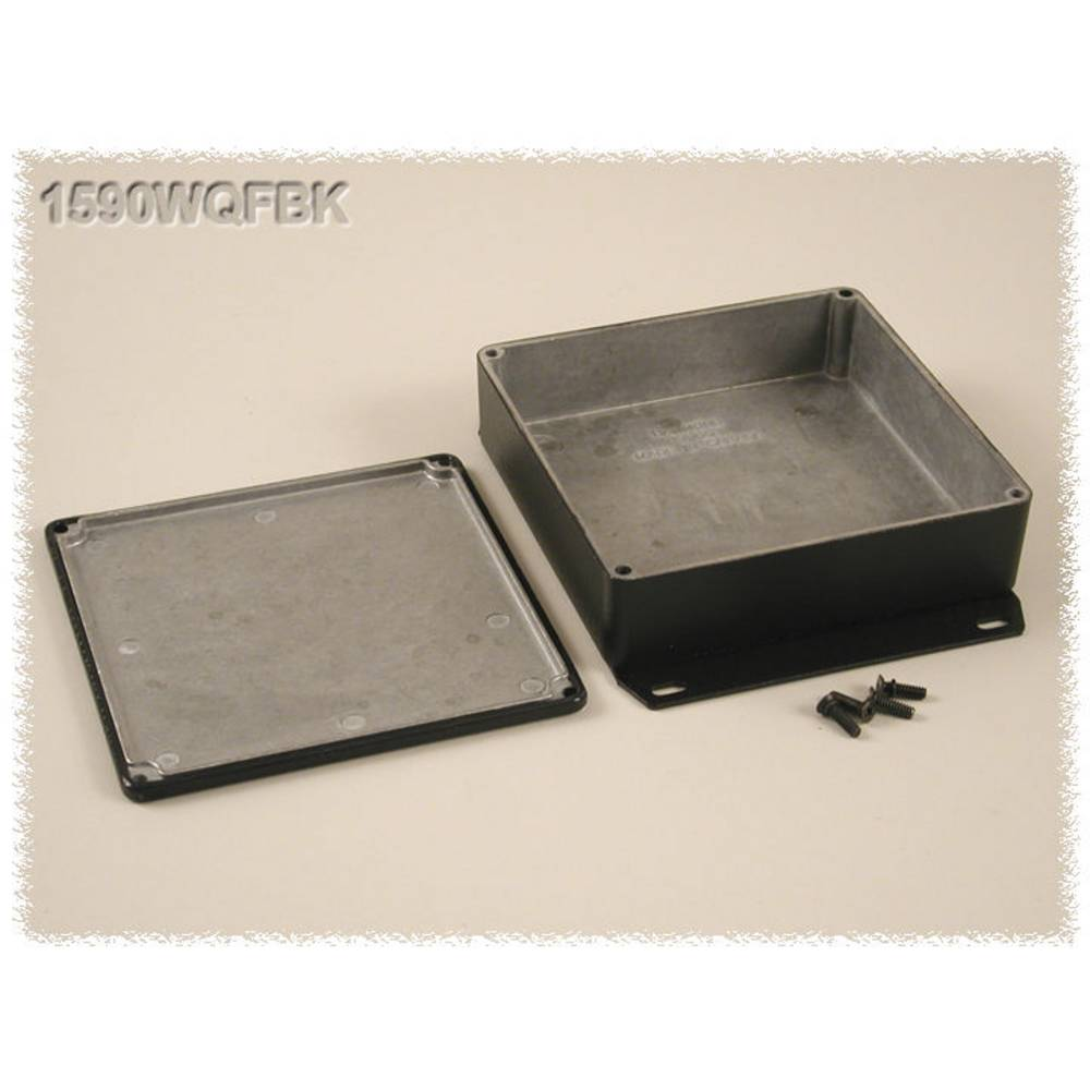 Universalkabinet 120 x 120 x 34 Aluminium Sort Hammond Electronics 1590WQFBK 1 stk