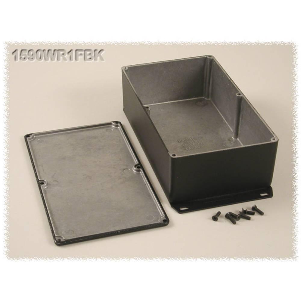 Universalkabinet 192 x 111 x 61 Aluminium Sort Hammond Electronics 1590WR1FBK 1 stk