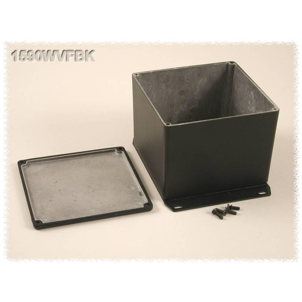 Universalkabinet 119.5 x 119.5 x 94 Aluminium Sort Hammond Electronics 1590WVFBK 1 stk