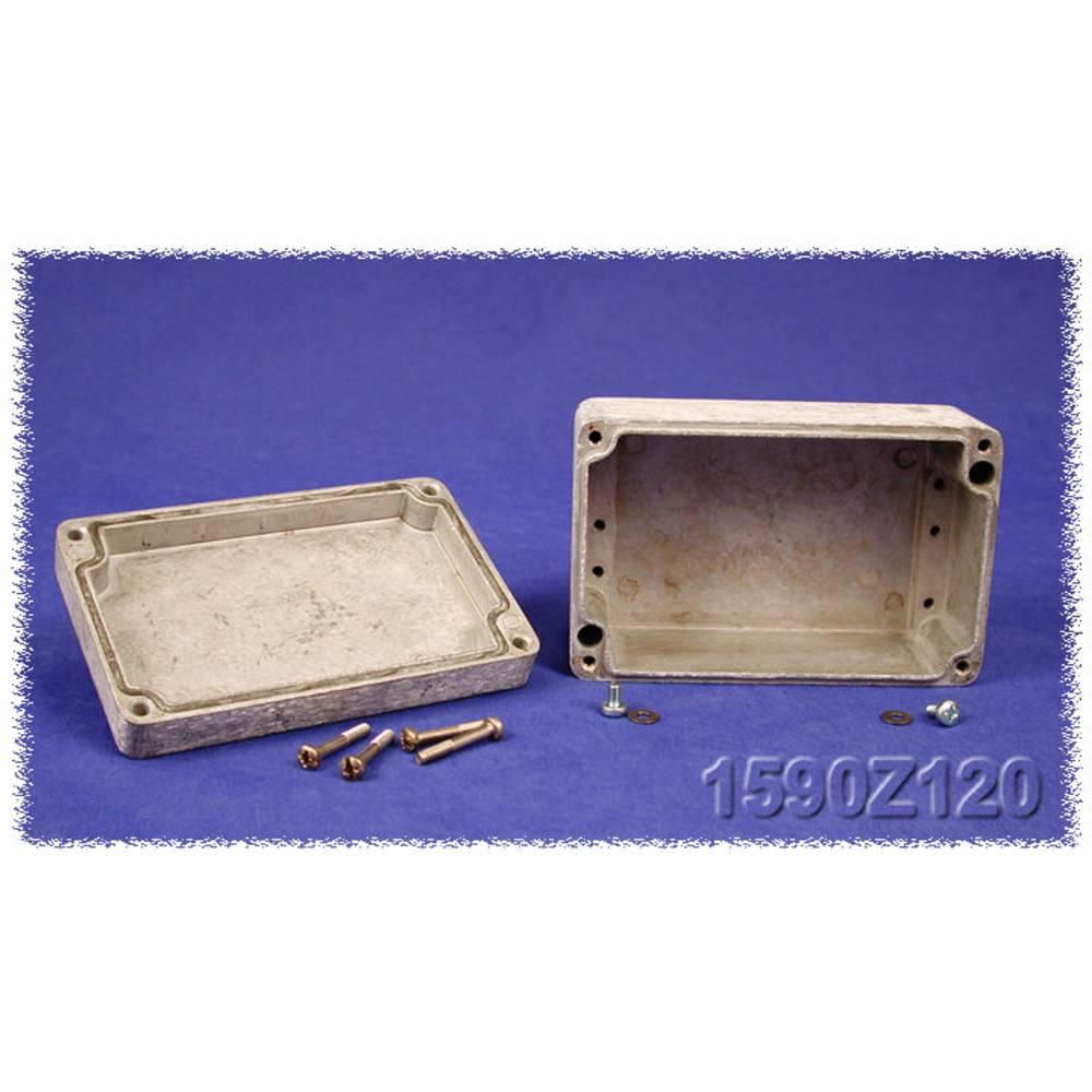 Endeplade Hammond Electronics 1590Z231PL Stålplade Natur 1 stk