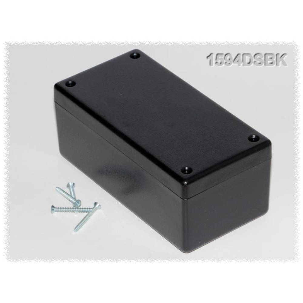 Universalkabinet 131 x 66 x 55 ABS Sort Hammond Electronics 1594DSBK 1 stk