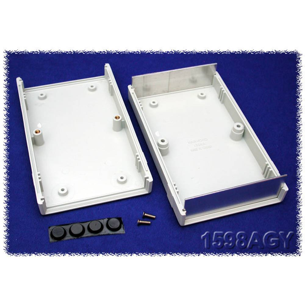 Instrumentkabinet 157 x 94 x 36 ABS Grå Hammond Electronics 1598ASGY 1 stk