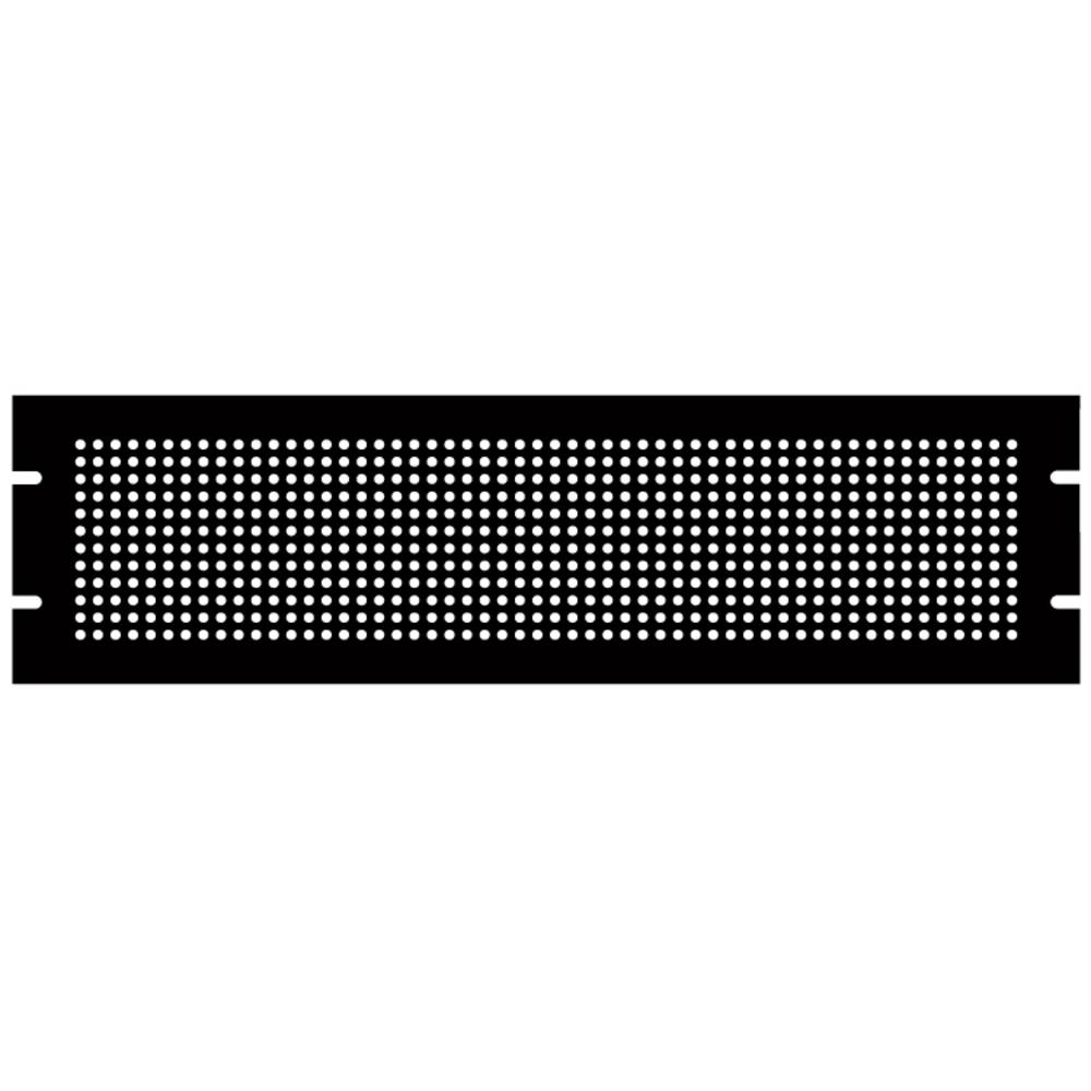 Monteringsplade Hammond Electronics PPFS19005BK2 (L x B x H) 483 x 2 x 133 mm Stålplade Sort 1 stk