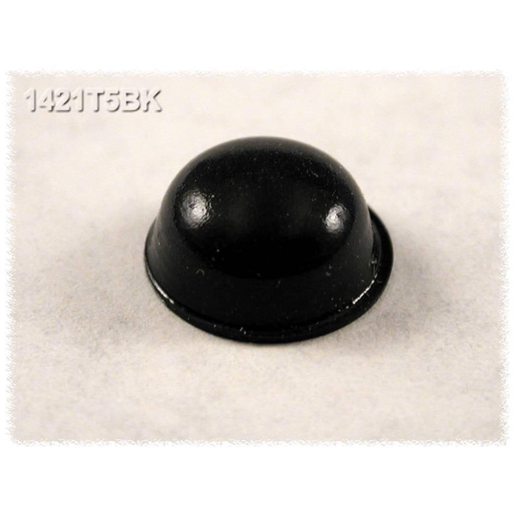 Chassisfod Hammond Electronics 1421T5BK Selvklæbende, Rund Sort (Ø x H) 11.1 mm x 5 mm 24 stk
