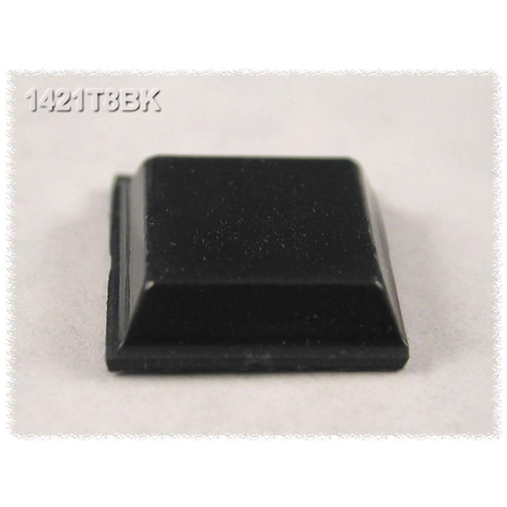 Udstyrsfødder Hammond Electronics 1421T8BK Selvklæbende, Rund Sort (Ø x H) 12.1 mm x 3.1 mm 24 stk