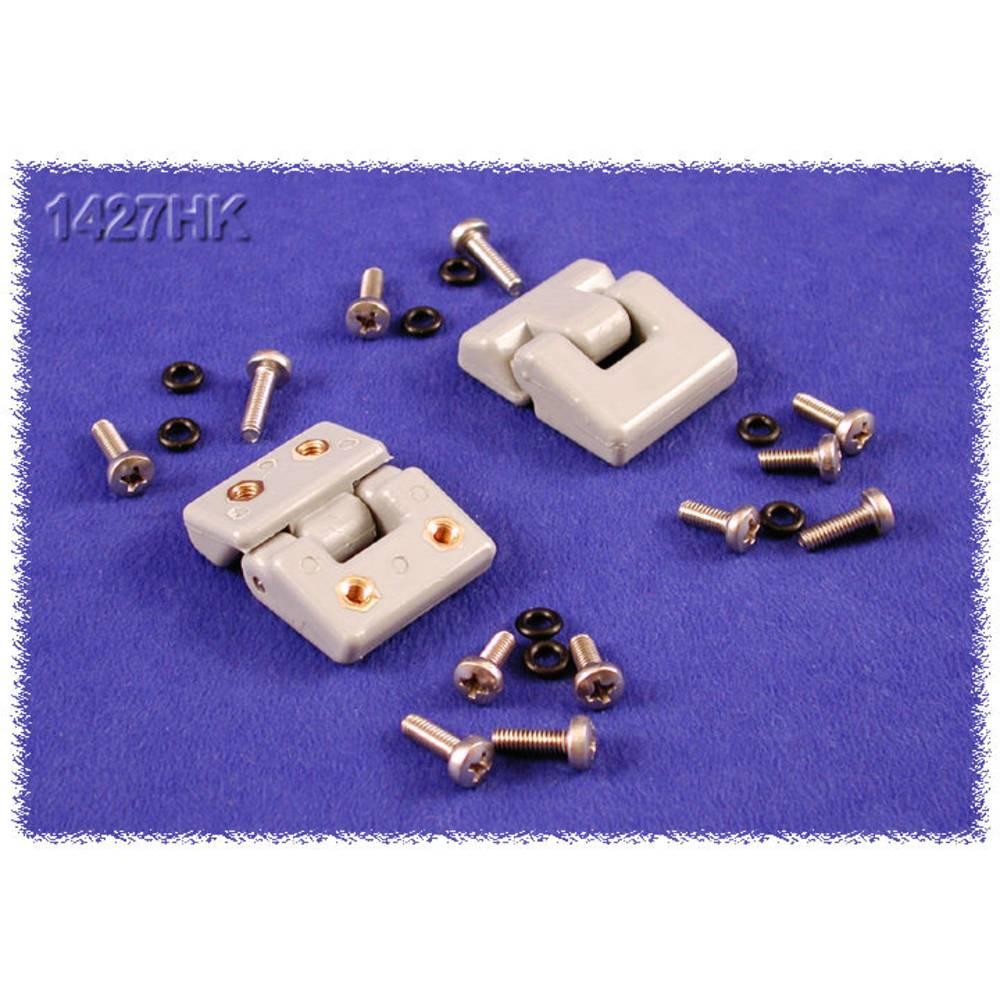 Montagefødder Hammond Electronics 1427X 1427X sammenklappelig ABS Hvid 2 stk
