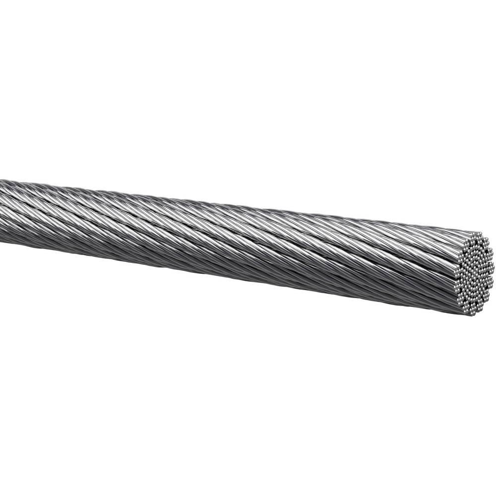 Finožični vodnik 1 x 1 mm Silber Kabeltronik 401010001 100 m