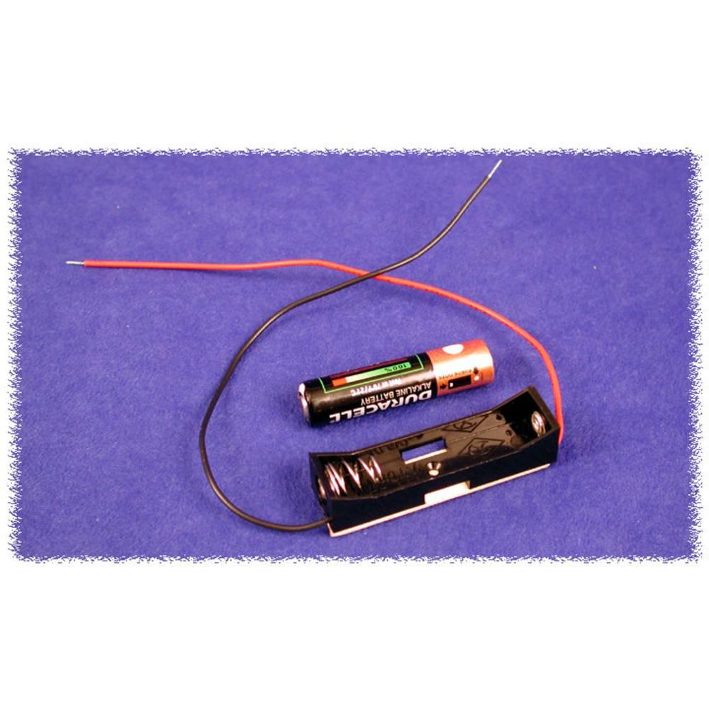 Batteriholder Hammond Electronics BH1AAAW BH1AAAW 1 x AAA Plast Sort 1 stk