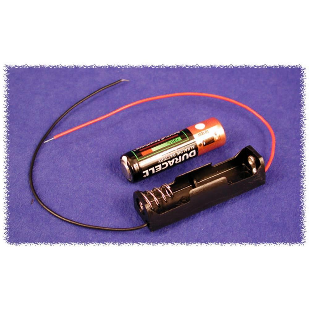 Batteriholder Hammond Electronics BH1AAW BH1AAW 1 x AA Plast Sort 1 stk