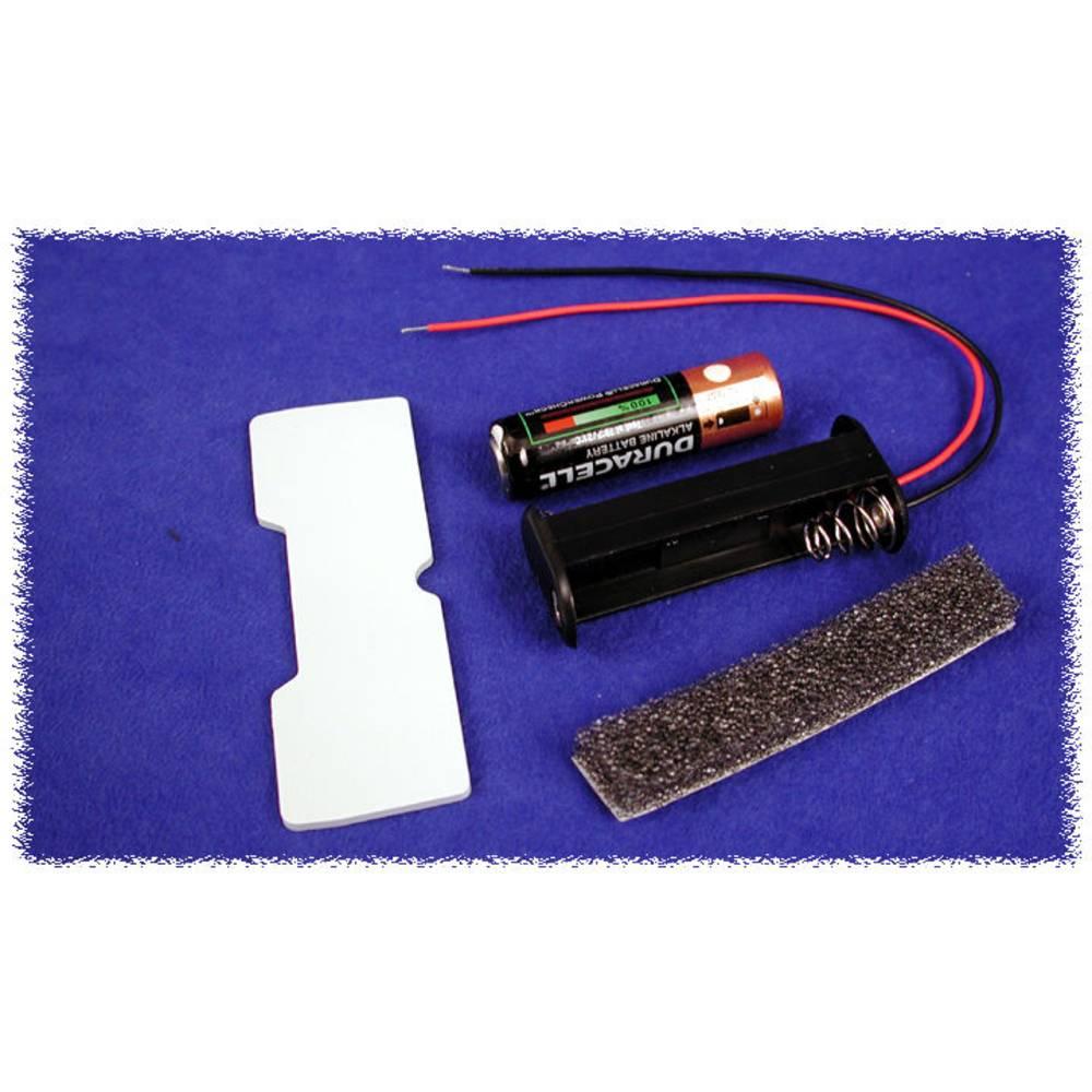 Batteriholder Hammond Electronics BH2AAW BH2AAW 2 x AA Plast Sort 1 stk