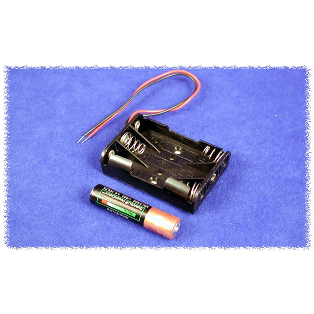 Batteriholder Hammond Electronics BH3AAAW BH3AAAW 3 x AAA Plast Sort 1 stk
