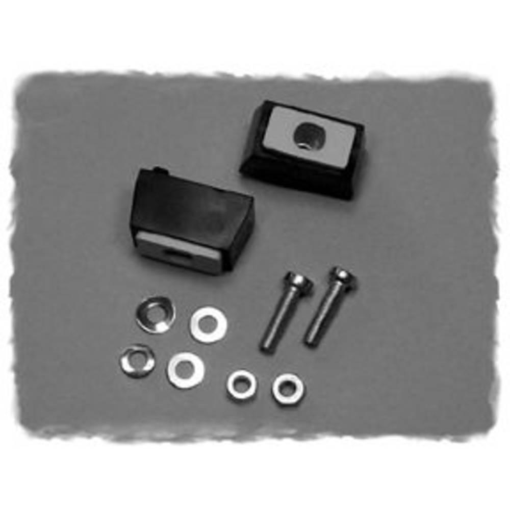 Montagefødder Hammond Electronics M797-24 M797-24 ABS Sort (L x B x H) 16 x 14 x 27 mm 2 stk