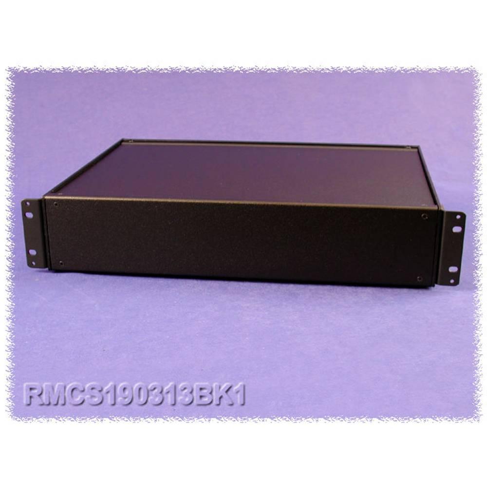 Universalkabinet 432 x 330 x 154 Aluminium Sort Hammond Electronics RMCS190713BK1 1 stk