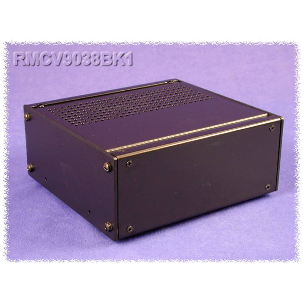 Universalkabinet 216 x 203 x 109 Aluminium Sort Hammond Electronics RMCV9058BK1 1 stk