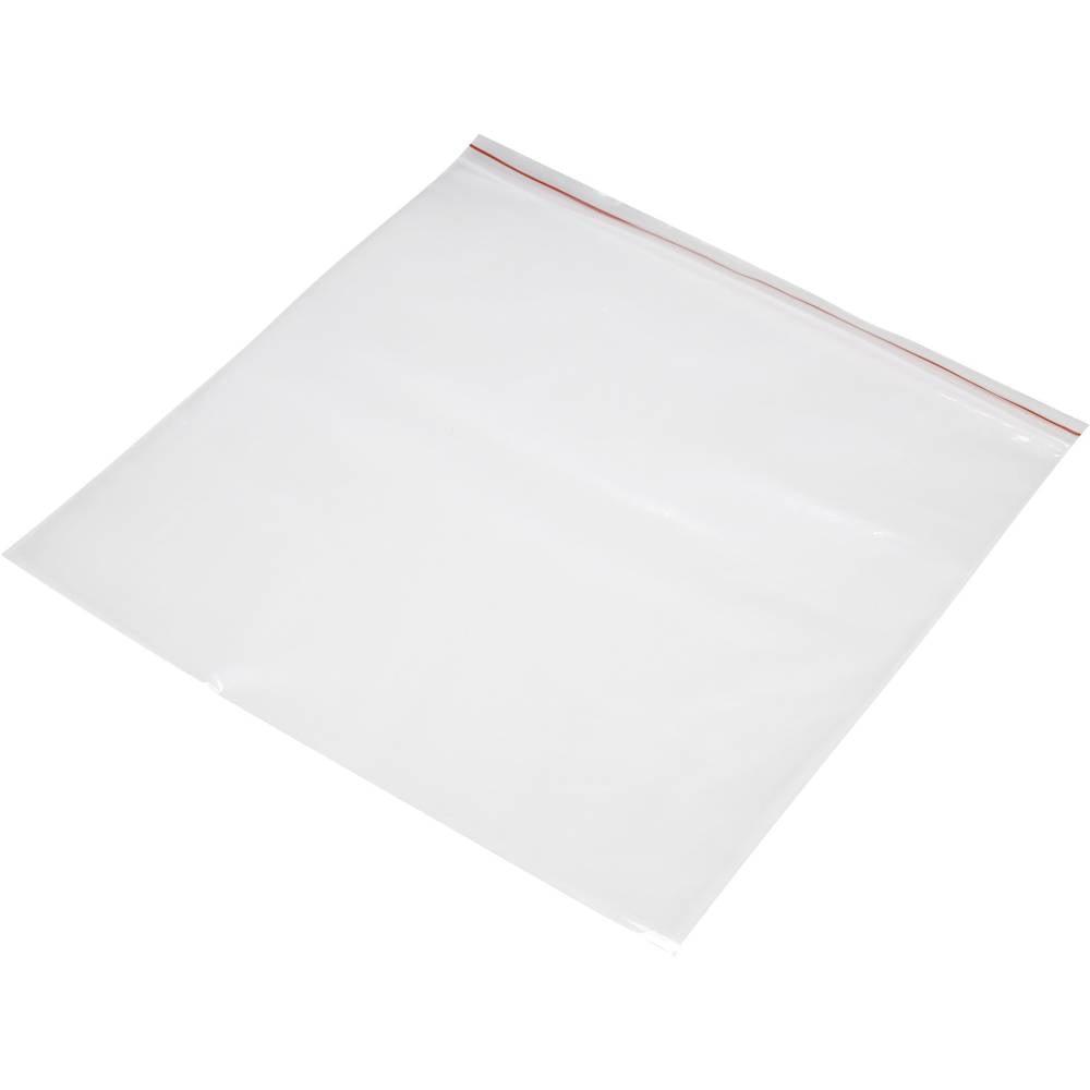 Vrečka s patentnim zapiranjem na pritisk brez traku za označevanje (Š x V) 300 mm x 300 mm prozorna, polietilen