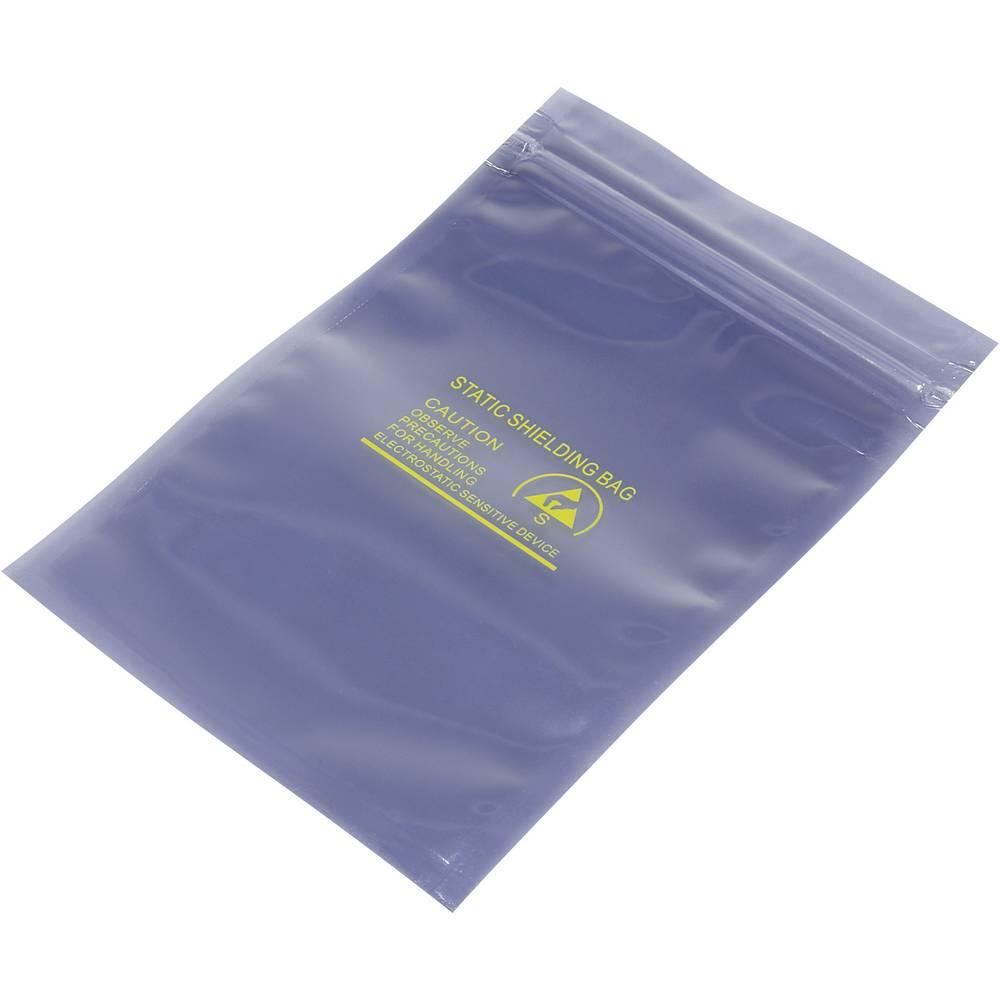 ESD zaščitna vrečka s patentnim zapiranjem na pritisk (D x Š) 152 mm x 100 mm debelina materiala 80 µm