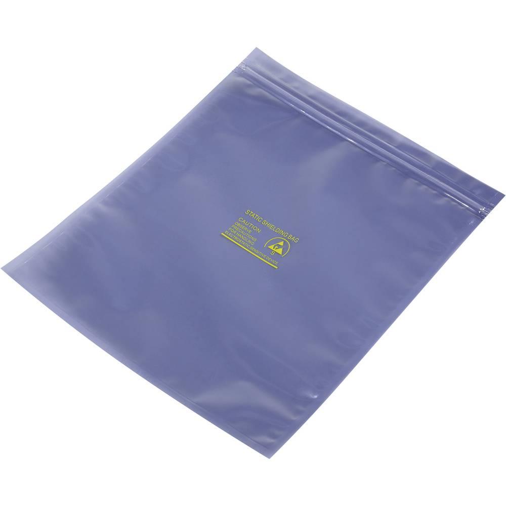 ESD zaščitna vrečka s patentnim zapiranjem na pritisk (D x Š) 250 mm x 200 mm debelina materiala 80 µm