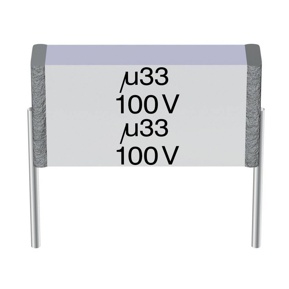 MKT-folijski kondenzator, radijalno ožičen 1 µF 100 V/AC 10 % 10 mm (D x Š x V) 11.5 x 4.5 x 6.9 mm Epcos B32561-J1105-K 1