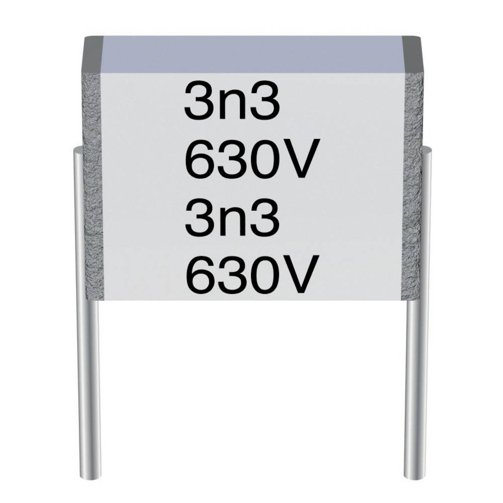 MKT folijski kondenzator, radialno ožičen 0.1 µF 100 V/AC 10 % 7.5 mm (D x Š x V) 9 x 2.5 x 4.7 mm Epcos B32560-J1104-K 1