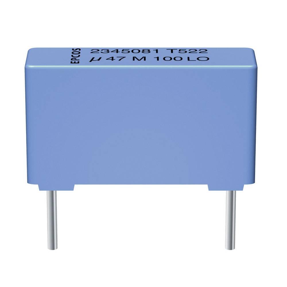 MKT-folijski kondenzator, radijalno ožičen 2.2 µF 100 V/AC 10 % 15 mm (D x Š x V) 18 x 7 x 12.5 mm Epcos B32522-C1225-K 1
