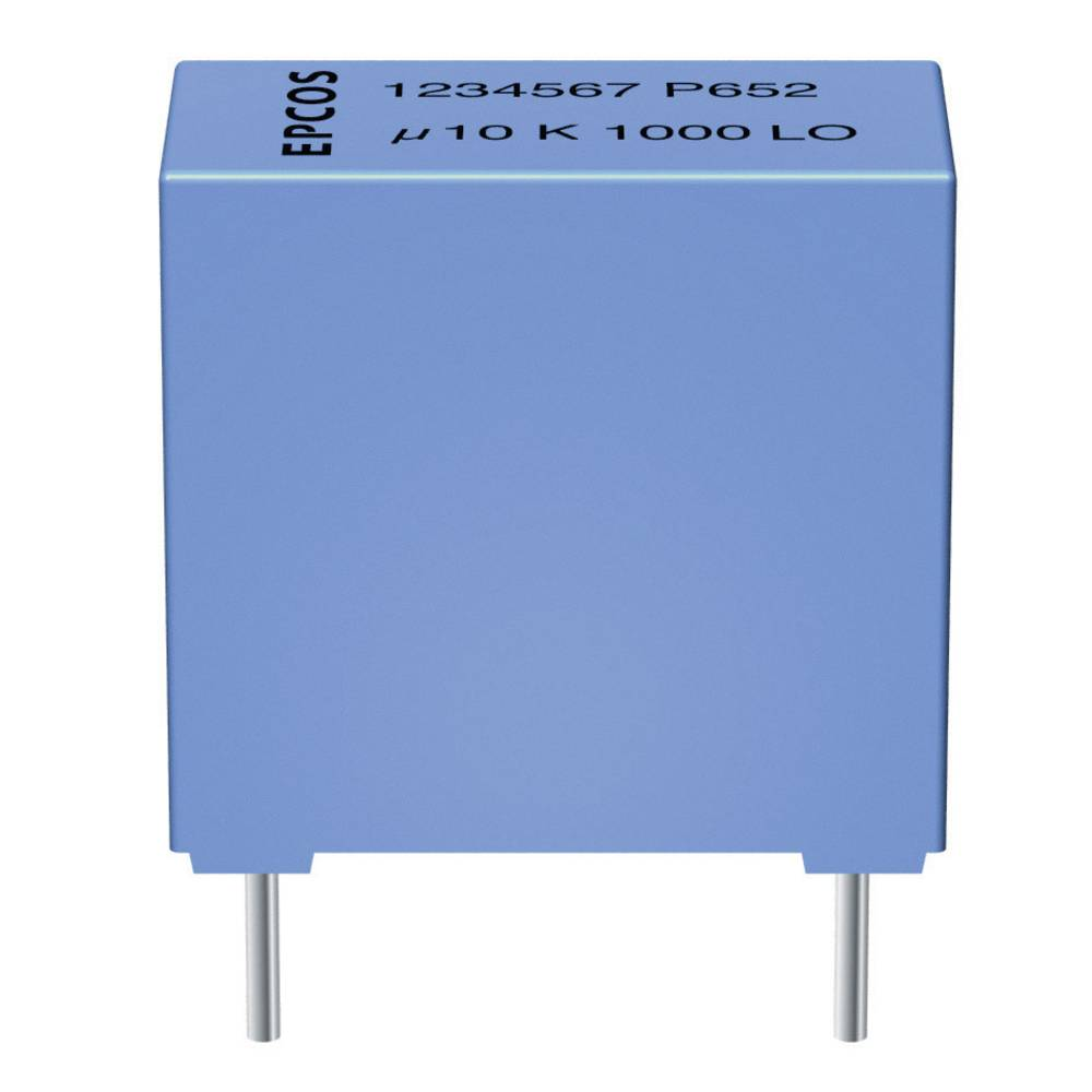 MKT folijski kondenzator, radialno ožičen 0.47 µF 63 V/DC 10 % 5 mm (D x Š x V) 7.2 x 3.5 x 8 mm Epcos B32529-C474-K 1 kos