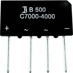 Mostični usmernik TRU Components TC-B40C3700A SIL-4 80 V 3.7 A enofazni