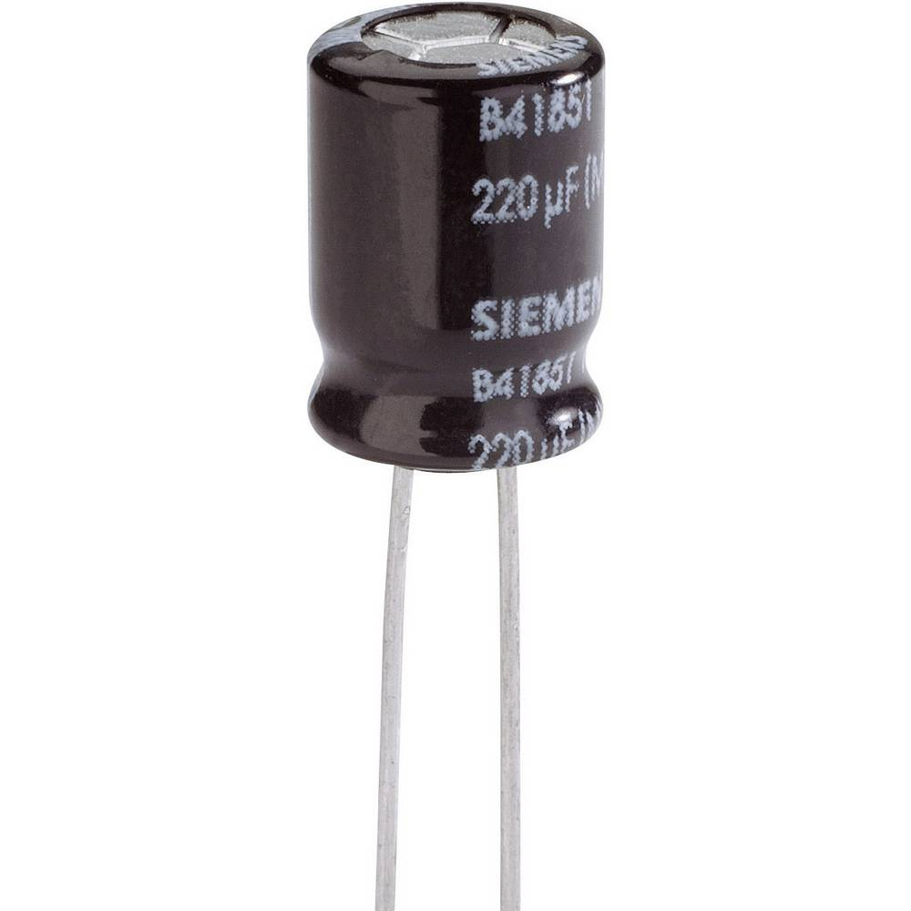 Elektrolitski kondenzator SnapIn 5 mm 220 µF 20 % (premer x D) 12.5 mm x 25 mm Epcos B41851-A9227-M 1 kos