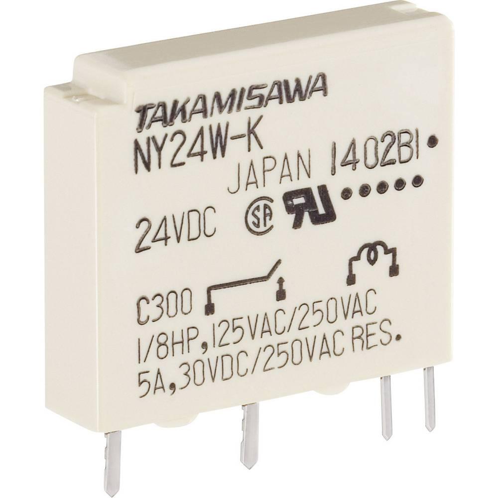 Printrelais (value.1292897) 24 V/DC 5 A 1 Schließer (value.1345270) Takamisawa NY-24W-K-IE 1 stk
