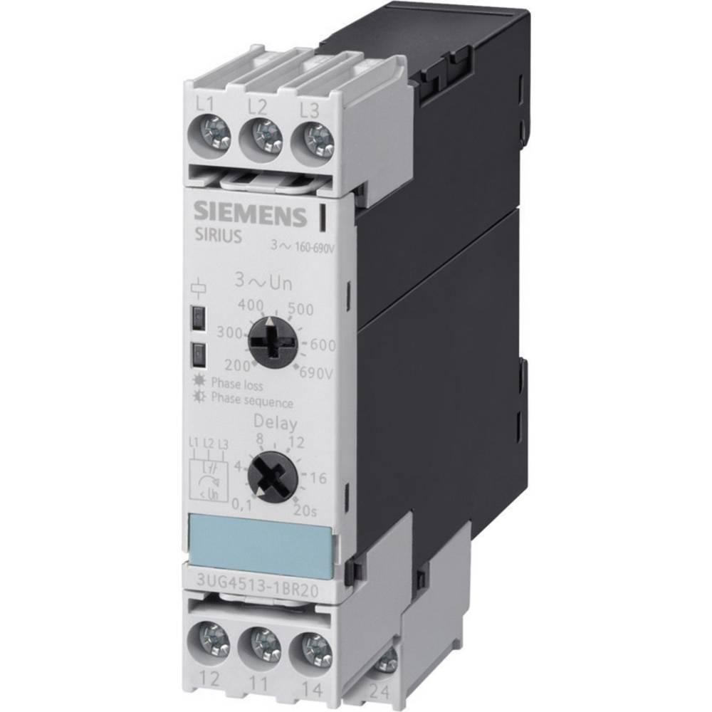 Nadzorni relej 690 - 160 V/AC 2 preklopni 1 kom. Siemens 3UG4513-1BR20 redoslijed faza, izpad faza, asimetrija, podnapon