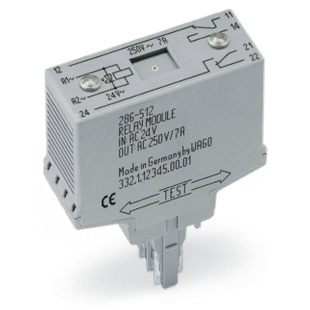 Stikrelæ 230 V/AC 7 A 2 x omskifter WAGO 286-516 1 stk