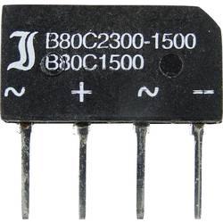 Mostični usmernik TRU Components TC-B40C1500B SIL-4 80 V 2.3 A enofazni