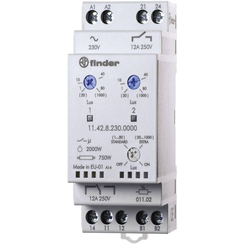 Dämmerungsschalter (value.1444820) 1 stk Finder 11.42.8.230.0000 Driftsspænding (num):230 V/AC Følsomhed lys: 1, 20 - 80, 1000 l