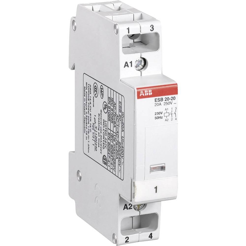 Kontaktor 1 kos ESB 20-20 ABB 2 zapiralni 1.3 kW 230 V/AC 9 A