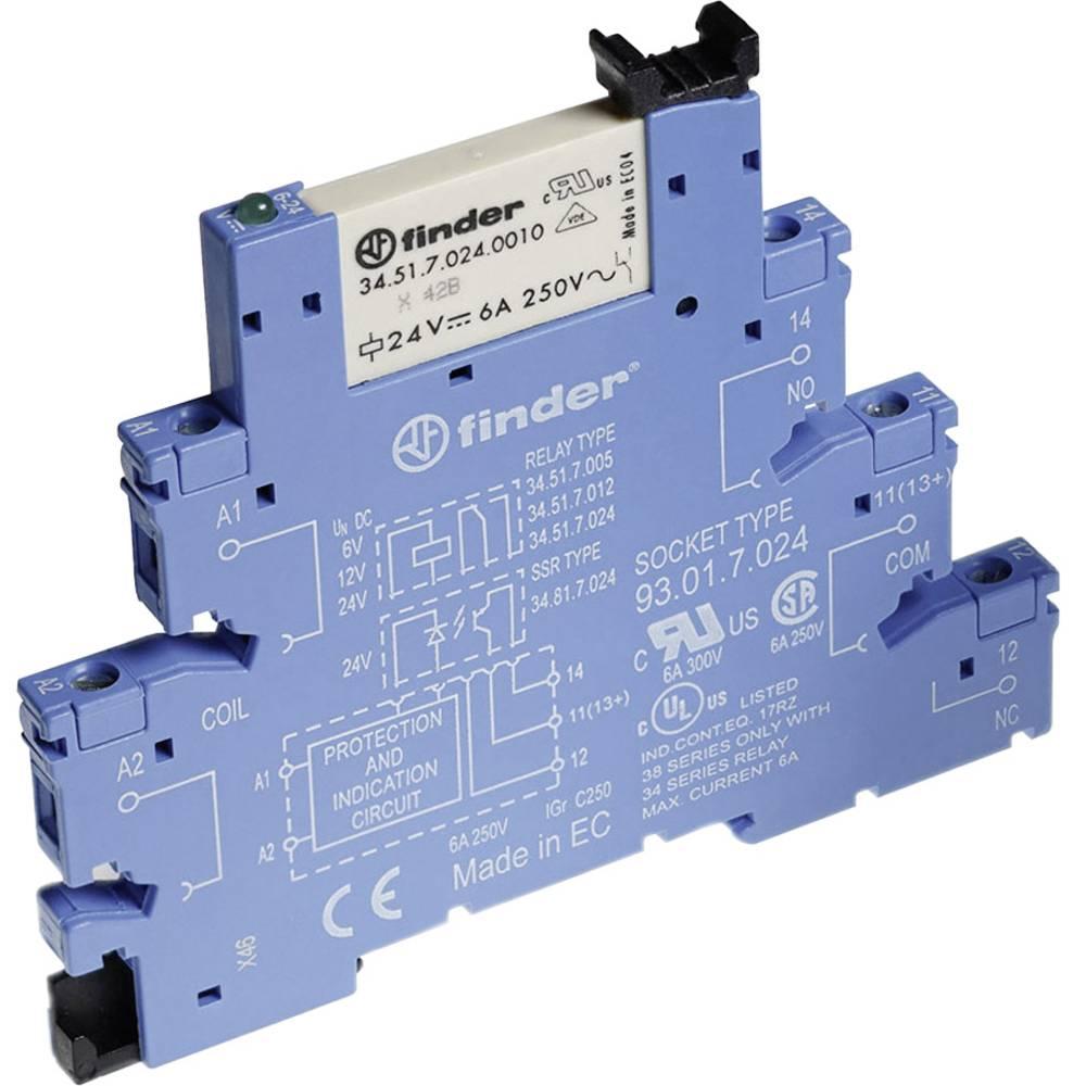 Relaisbaustein (value.1292895) 1 stk Finder 38.61.0.024.0060 Nominel spænding: 24 V/DC, 24 V/AC Brydestrøm (max.): 6 A 1 Wechsle
