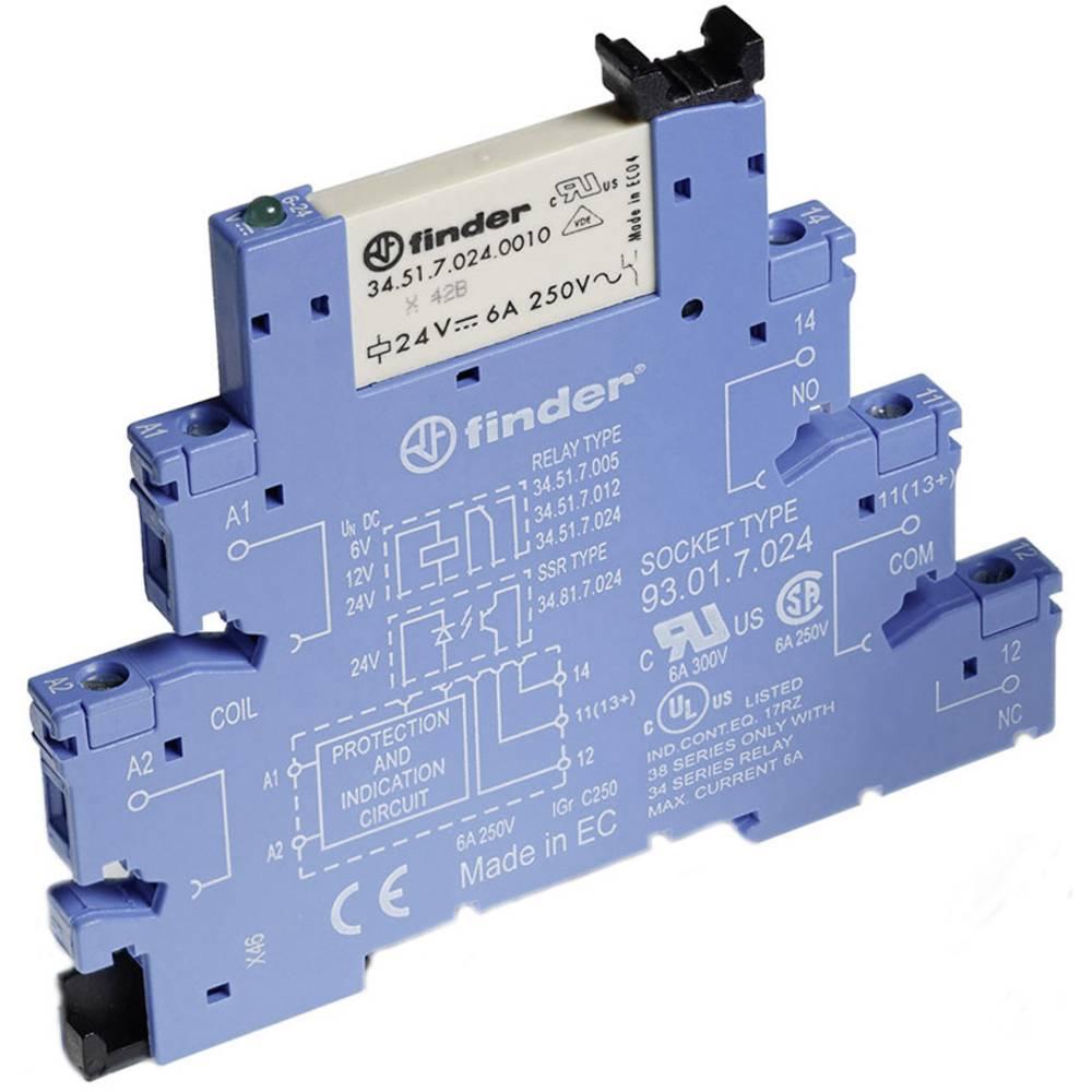 Sklopni modul, serija 38 (6,2 mm širina) Finder 38.51.0.012.0060 1 izmenjevalnik 6 A 1 kos
