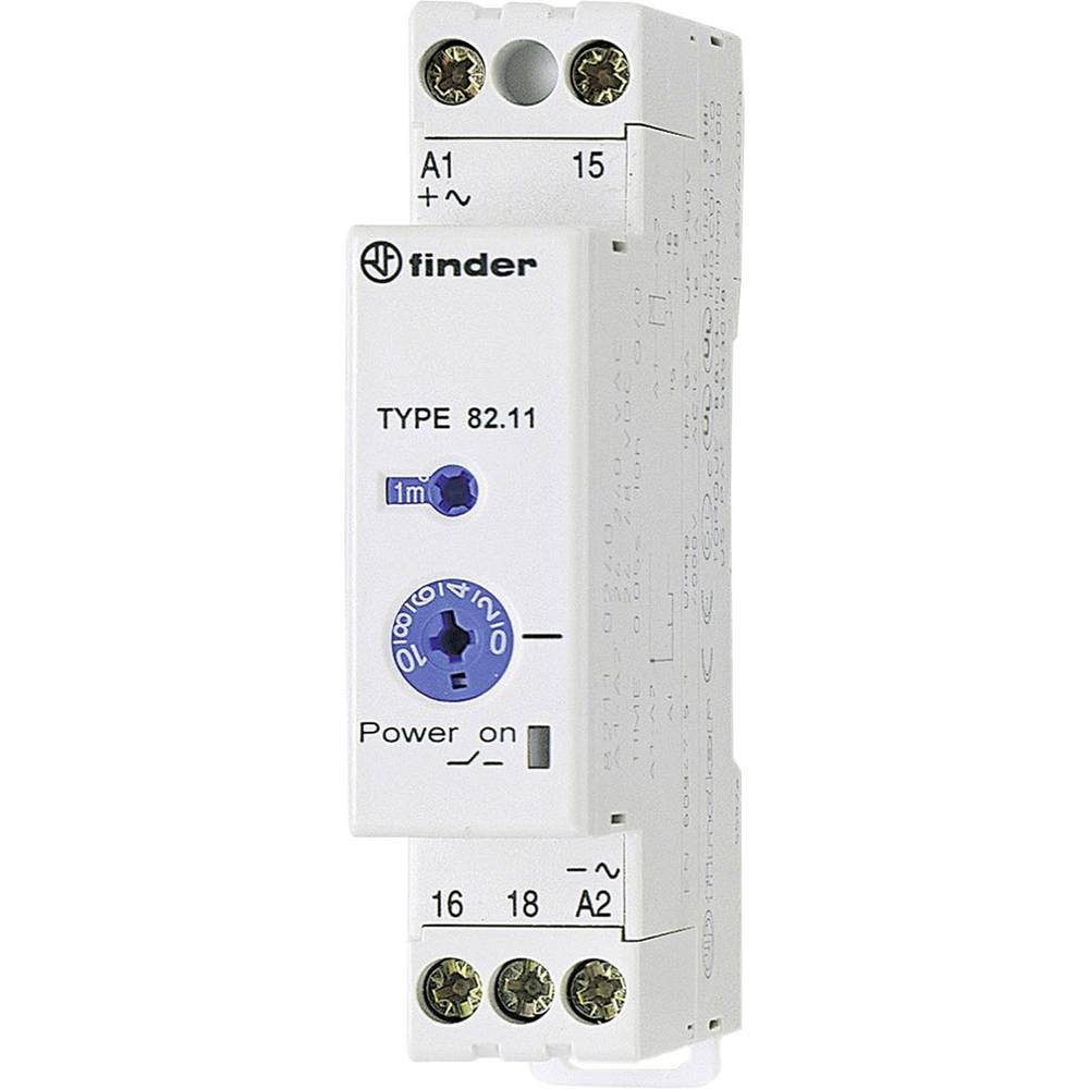 Finder 82.11.0.240-Industrijski vremenski relej, 17.5 mm, 24-48V/DC/24-240 V/AC, 1NC