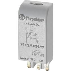 Steckmodul (value.1292944) med LED, Med varistor 1 stk Finder 99.02.0.024.98 Passer til serie: Weg Serie MPW25 (value.1454958),