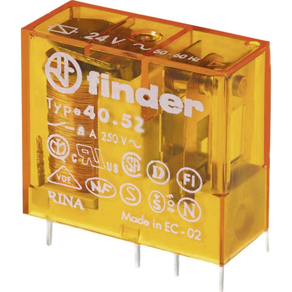 Finder 40.52.8.024.0000 Rele za tiskano vezje 24 V/AC 8 A 2 menjalo 50 KOS Tray