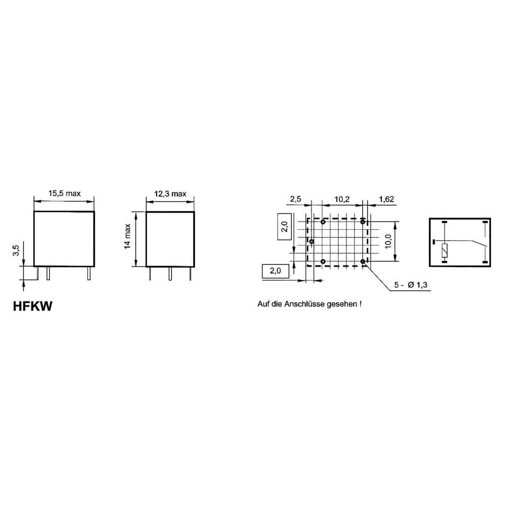 Visokotokovni rele serije HFKWHFKW HFKW/024-1Z W 24 V/DC 1xpreklopni kontakt 10 A Maks. Hongfa