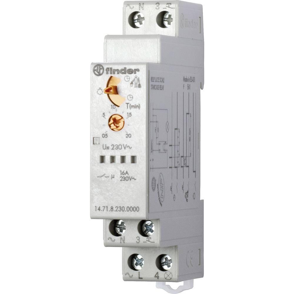 Svjetlosni automat za stubišta, serija 14.71.8.230 Finder 14.71.8.230.0000 230 V/AC TYP 14.71.8.230.0000