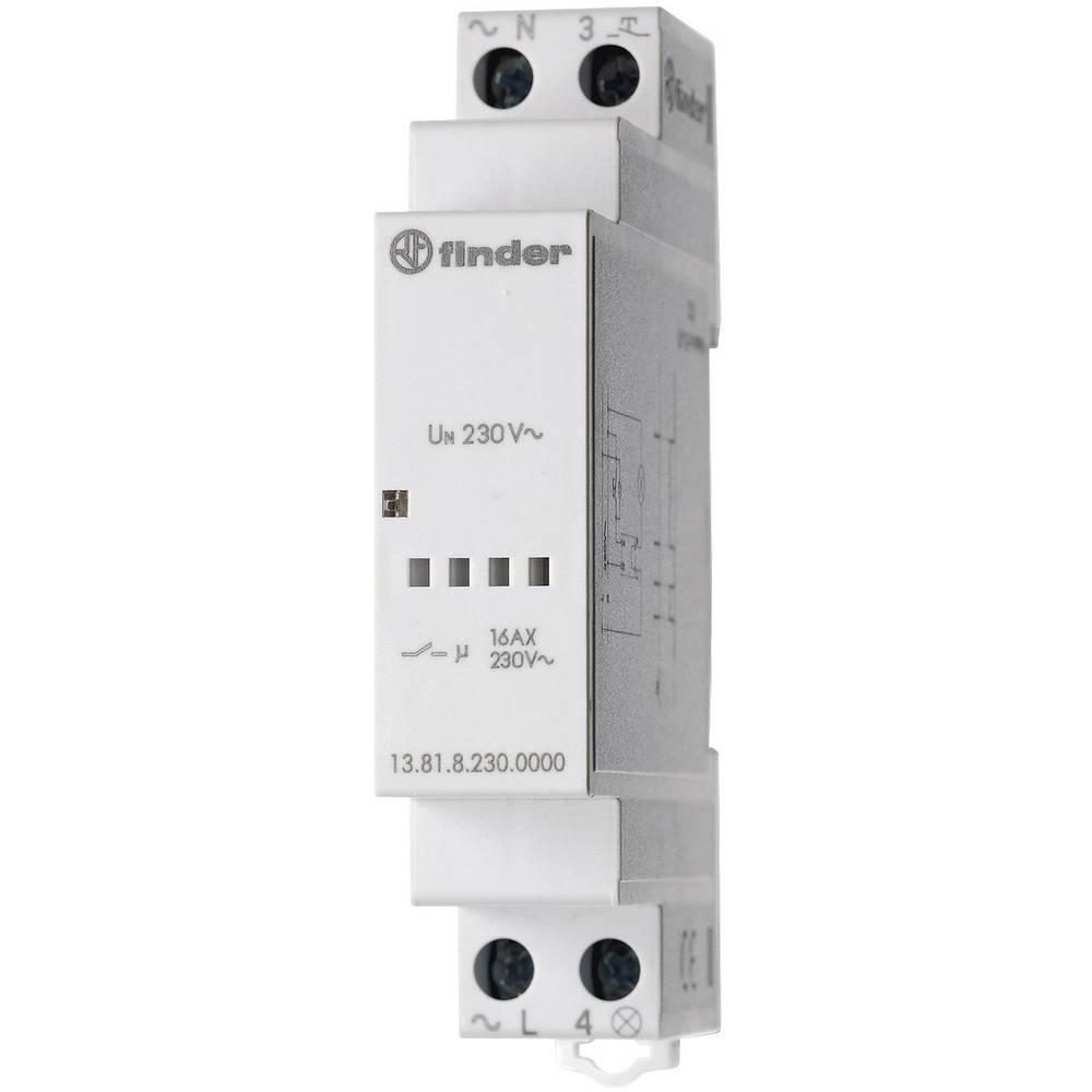 Impulsna sklopka za profinu šinu 13.81.8.230.0000 Finder 1 otvoreni kontakt 230 V/AC 3700 VA 1 kom.