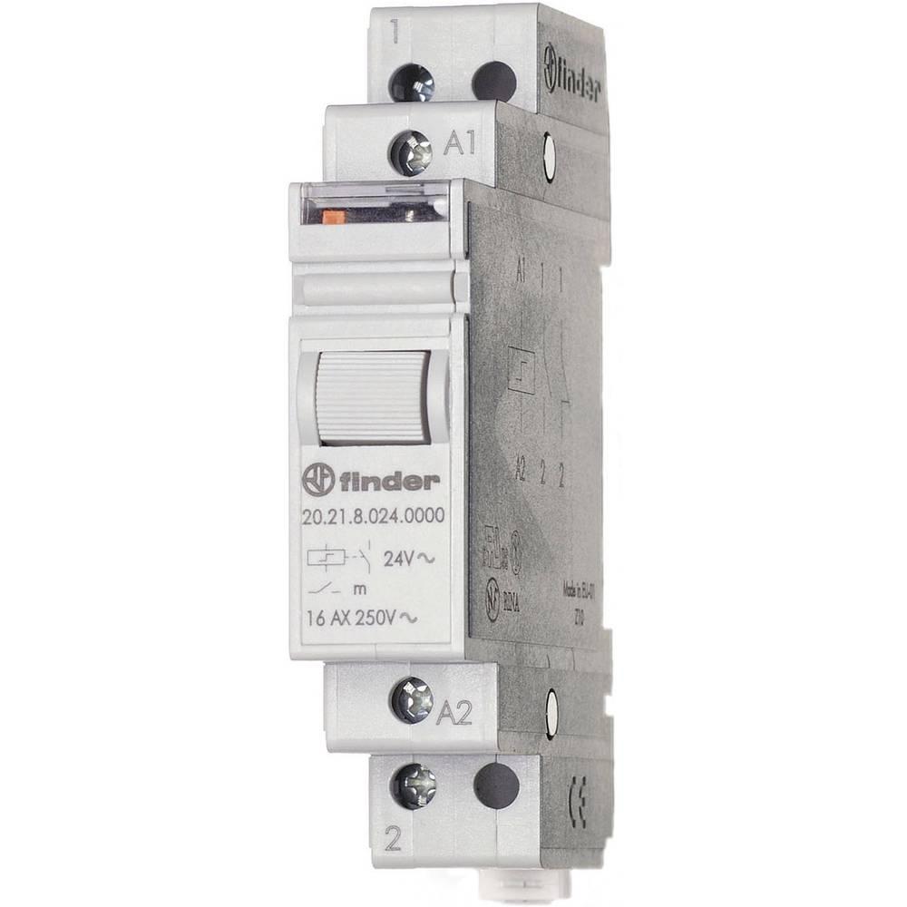 Impulsna sklopka za profinu šinu 20.21.8.008.4000 Finder 1 otvoreni kontakt 8 V/AC 16 A 4000 Finder VA 1 kom.
