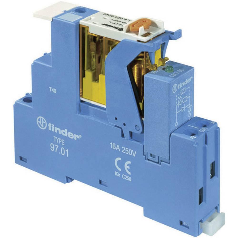 Relækomponent 1 stk Finder 4C.01.9.024.4050 Nominel spænding: 24 V/DC Brydestrøm (max.): 16 A 1 x skiftekontakt