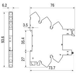 Podnožje serije 34 - spojka ssteznom opugom 220VDC/230V Finder 93.11.0.240