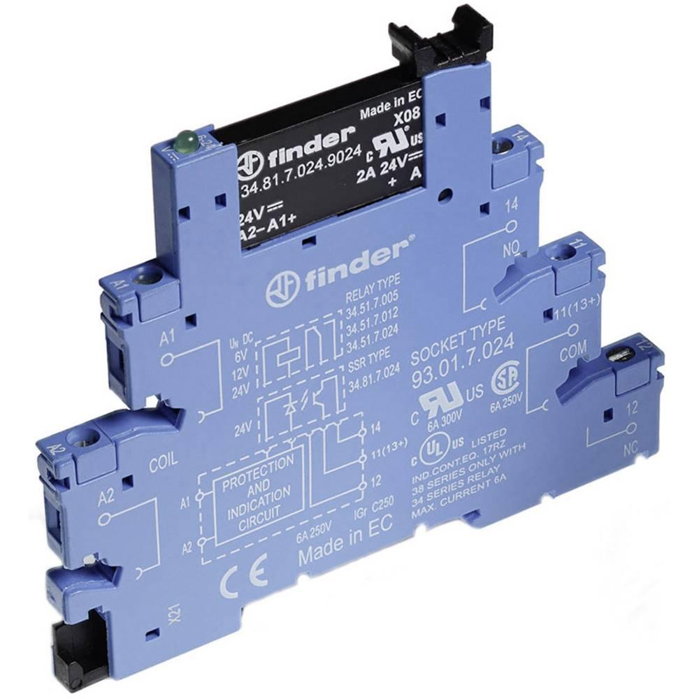 Vezni modul serije 38, širine6, 2 mm Finder 38.81.7.024.82401x radni kontakt 2 A