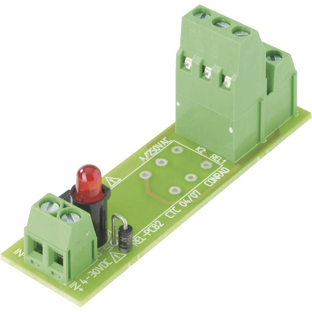 Tiskano vezje za rele REL-PCB20, brez releja, 4-30 V/DC, 2xpreklopni k., maks. 2 x 8 A Conrad
